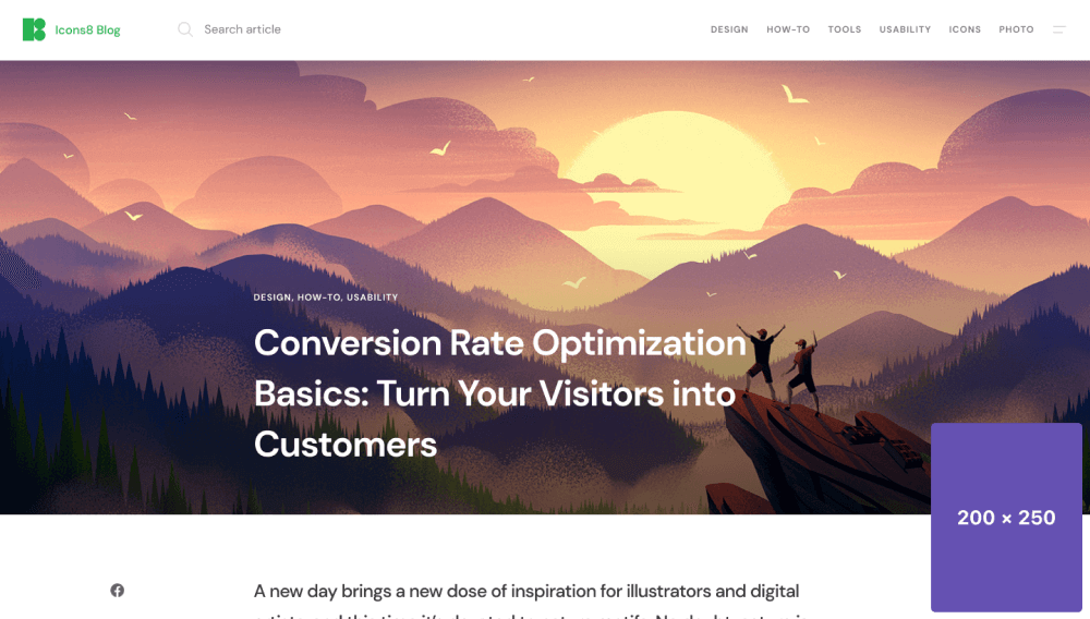Conversion rate optimipation